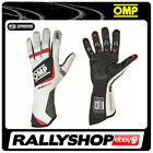 FIA OMP ONE EVO Gloves Race Rally Motorsport White Driving NEW 8856 Elasticated