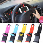 NEW Car Steering Wheel Mount Band Cell Phone Holder Smart Phone Support Stand