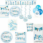 Boys Blue Christening Party Flag Themed Celebration Tableware And Decorations