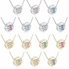 Cute Womens White/Yellow Gold Plated Rhinestone Heart Pendant Long Necklace