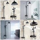Wall Mounted Bathroom Shower Faucet ORB Finish Shower Tub Mixer W/ Hand Shower