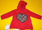 LOSAN Cardigan hooded and zipper little girl , Red with heart