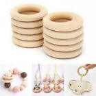 10pcs 35/55mm Unfinished Natural Wooden Round Rings Diy Necklace Jewellery Craft