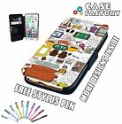 Friends Central Perk How You Doin Collage - Leather Wallet Flip Phone Case Cover