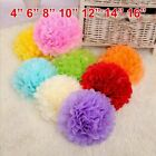 10 Paper Tissue Pom Poms Wedding Decorations Pompoms Party Hanging Flower Balls