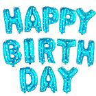HAPPY BIRTHDAY LETTERS FOIL BALLOON SET BIRTHDAY PARTY DECORATIONS 13 PCS 16INCH