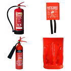 FIRE SAFETY KITS FOR ALL USES: EXTINGUISHER POWDER FOAM CO2 FIRE BLANKET SIGNS