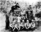 Roy Rogers posed with Group of People in Black and White High Quality Photo