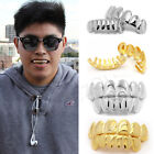 14K Gold/Silver Plated Mouth Caps Cosplay Teeth Grills Grillz Hip Hop Free Mold image