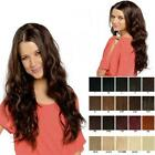 Long beach wave Hair fall half head wig wavy hairpiece Various colours