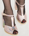 Iron Fist Gothic Goth Mermaid Siren Mother Of Pearls Heels Ankle Strap Pink
