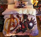*** Iron Man Flying out Single Bed Quilt Cover Set - Flat or Fitted Sheet ***