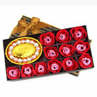 Hot 12pc Scented Soap Rose Flowers with Bracelet Birthday Wedding Party Gift Box