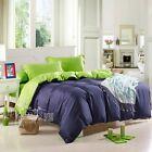 Solid Queen/King/Single/Double Size New Duvet Quilt Doona Cover Set Pillowcases