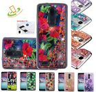 LG Stylo 3 / Plus Bling Hybrid Liquid Glitter Rubber Protective Hard Case Cover