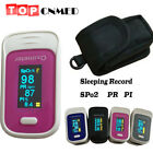 OLED Pulse Oximeter SPO2 PR PI 8 hours Recorder Alarm Beep Bright Adjusted
