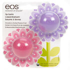 EOS Lip Balm Pack of 2 1 x Strawberry & 1 x Passion Fruit 100% Natural