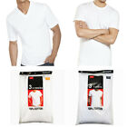 New 3-6 Pack For Men's 100% Cotton Tagless T-Shirt Undershirt Tee White S-XL image