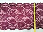 AS LOW AS .75 CENTS YD! 8-inch WIDE SPANDEX LACE LUXURIOUSLY SOFT 4 COLOR Option