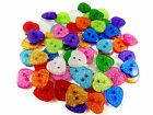 13mm Glitter Heart Buttons - 10 Colours & Mixed - Card Embellishments Scrapbooks