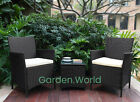 2 Chair and Table Rattan Garden Furniture Set Conservatory Patio Wicker Outdoor
