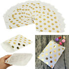 25/50/100x Foil Gold Polka Dot Sweet Paper Candy Bag Gift Wedding Birthday Favor