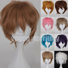 US Seller Short Straight Full Wigs Synthetic Hair Wig Anime Cosplay Party Black
