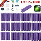 Lot 2~1000pcs 18650 3.7v LI-MN 2500mAh Button High Drain Rechargeable Battery OY