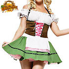 Sexy German Beer Girl Maid Wench Halloween Fancy Dress Costume Size M L XL XXL