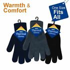 Warm & Cozy Men'S Thermal Gloves- Free Size Polyester For Outdoor Travel & Daily
