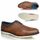 NEW Mens Brown Leather Casual Smart Lace Up Brogues Shoes UK Sizes 6 7 8 9 10 11