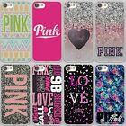 Love Pink Diamonds Girly Pretty Colors Hard Case Cover For iPhone Samsung Huawei
