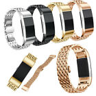 Luxurious Stainless Steel Bracelet Link Strap Watch Bands For Fitbit Charge 2