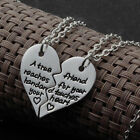 """""""A True Friend Reaches For Your Hand ..."""" 2PCS Broken Heart Neclace Gift UK"""