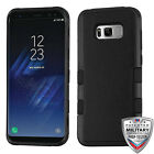 For Samsung GALAXY S8 /PLUS Hybrid Rugged Shockproof Protective Case Cover BLACK