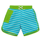 Classic Pocket Board Shorts w/Built-in Reusable Absorbent Swim Diaper-Aqua St...