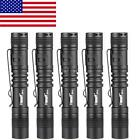 5Pcs 120LM XP-1 LED Flashlight Torch Light 1-Mode 9cm Fit AAA Battery G4Q0