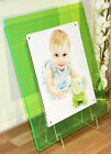 "Acrylic perspex Plexiglas magnetic desk picture photo frame for 10x8"" ALL COLOR"