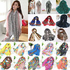 Women Soft Long Neck Large Scarf Wrap Shawl Fashion Flower Chiffon Stole Scarves