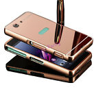 Luxury Mirror Back Cover & Aluminum Metal Bumper Case For Sony Phone Accessorie