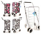 Shopping Trolley Cart Grocery Folding 6 Wheels Market Laundry Portable Utility