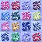 Baby/Girl's Handmade 3 inch Gingham Spiked Blossom Bow School Hair Clips Bobbles