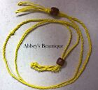 YELLOW HEMP CORD NECKLACE YOUR CHOICE FROM OVER 20 GEMSTONES NEW ADJUSTABLE #21