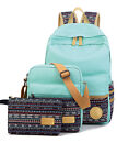 Canvas Laptop Messenger Bag Shoulder School Backpack Purse Pen Travel Daypack