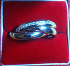 NEW 925 Silver Russian Wedding Ring with CZ Stones