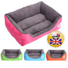 Dog Puppy House Winter Soft Cat Teddy Pet Bed Warm Comfy Fabric Rectangle Beauti