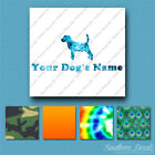 Custom Beagle Dog Name Decal Sticker - 25 Printed Fills - 6 Fonts