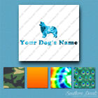 Custom Border Collie Dog Name Decal Sticker - 25 Printed Fills - 6 Fonts
