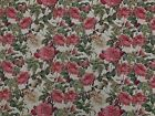 Floral Rose Tapestry Luxury Designer Fabric Upholstery Curtains Cushions Throws