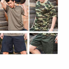 Men boys Fitness training suit short sleeve pants set quick-drying shirts shorts